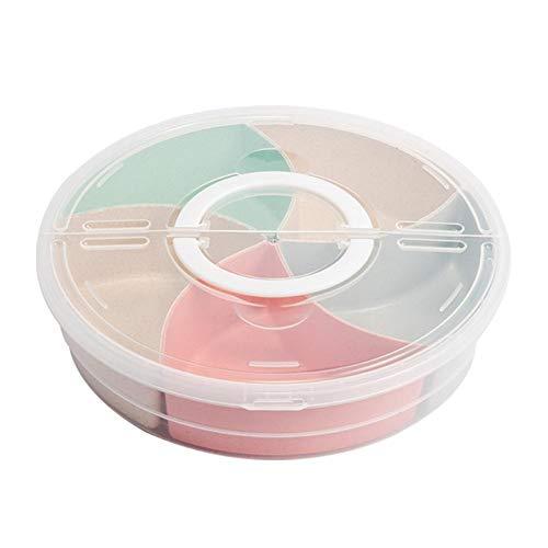 (Chengstore Creative Ablaufrost, Servierplatte Früchte, Gemüse, 2Fach Snacks Kunststoff Teller Obst Schale Küche & Essen Tisch Dekoration Korb 5 Compartment Fruit Box)