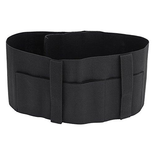 Bauchband Holster Verstellbar Pistolenholster Gürtelholster Verdeckter Gürtel mit 2 Tasche, Schwarz