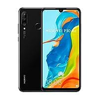 Huawei P30 Lite Smartphone, Dual SIM, 128GB, 4GB RAM - Black