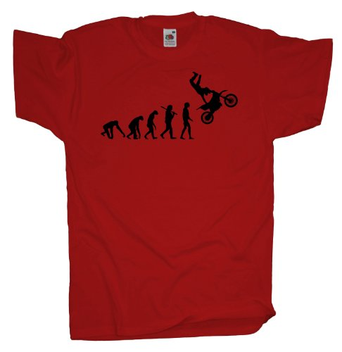 Ma2ca - Evolution - Motocross Freeride T-Shirt Red