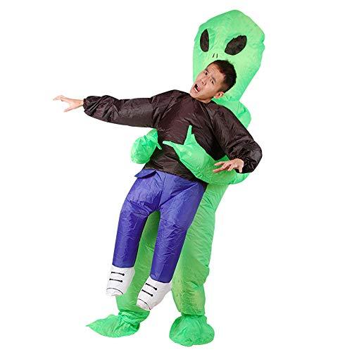 MIMI KING Alien Aufblasbares Kostüm Für Erwachsene, Halloween-Cosplay, Weihnachten, Festivals, Geburtstagsfeier Lustige Modellierung
