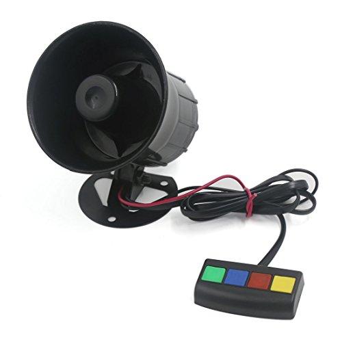 sourcingmap® Motorrad Auto Van Fahrzeug 4 Ton Sicherheit Warnung Sirene Horn Lautsprecher DC 12V de Multi-ton-horn