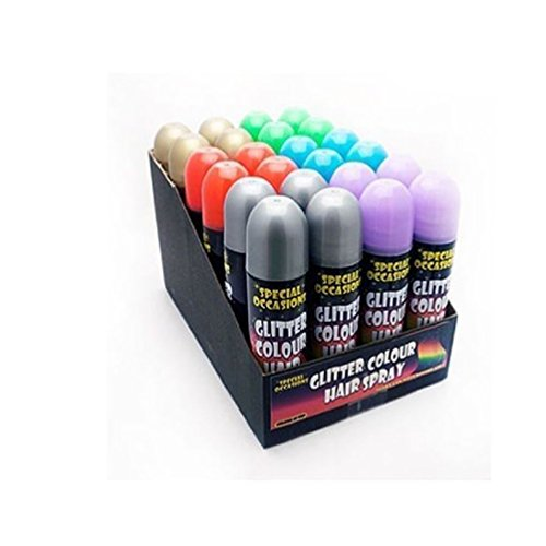 12-x-special-occasions-glitter-in-6-different-colours-temporary-hair-spray-250ml