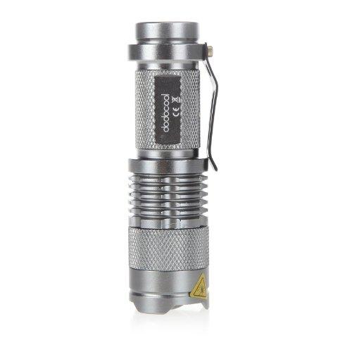 DODOCOOL 7W 300LM Mini LED Taschenlampe Einstellbarer Fokus Zoom Licht Silber