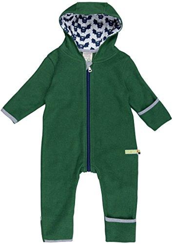 loud + proud Unisex Baby Schneeanzug Overall Fleece, Grün (Pine Pin), 56 (Herstellergröße: 50/56)