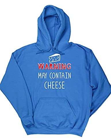 HippoWarehouse Warning May Contain Cheese unisex Hoodie hooded top (Specific size guide in