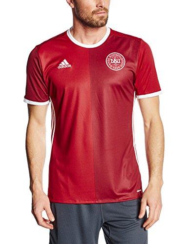 adidas Herren T-shirt DBU H Jersey, Rot / Weiß, L, 4056558376735