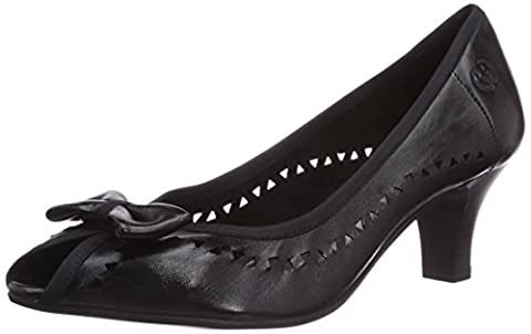 Gerry Weber Shoes Kitty 01, Damen Peep-Toe Pumps, Schwarz (schwarz 100), 40 EU (6.5 UK) (Schwarz Peep Toe)