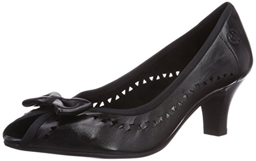 Gerry Weber Shoes Kitty 01, Damen Peep-Toe Pumps, Schwarz (schwarz 100), 38 EU (5 UK) (Damen Kitty)
