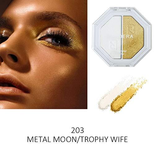 Zilosconcy Frauen PHOERA Zweifarbiger Highlighter Make Up Shimmer Cream Face Highlight Lidschatten...