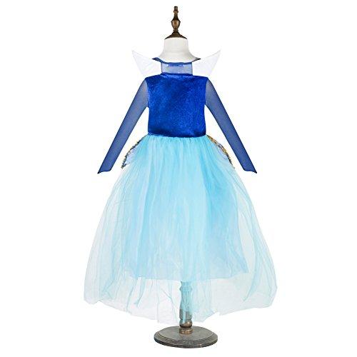 Imagen de traje de princesa aurora, vestido inspirado por cuentos de hadas, la bella durmiente para niñas de 6 7 años  disfraz de hallowen o carnaval alternativa
