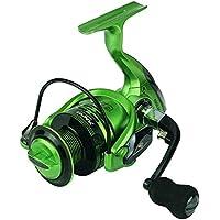 ZRWL Carrete de Pesca de Hilado Verde con cojinetes de Acero Inoxidable. Manija Intercambiable Izquierda Derecha para Agua Salada Pesca de Agua Dulce 13 + 1 (Tamaño : 1000)
