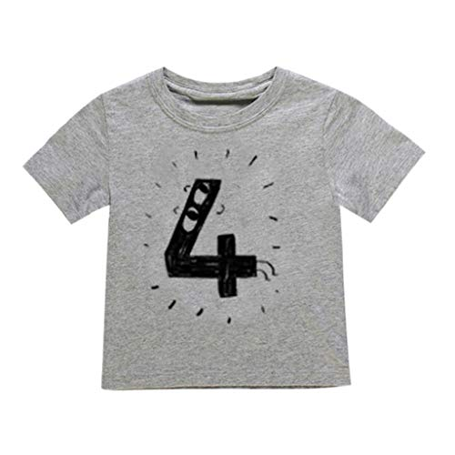 JUTOO Neugeborenes Baby scherzt Jungen-Mädchen-Nette Zahl-Karikatur-Kurzarm-T-Shirt übersteigt...
