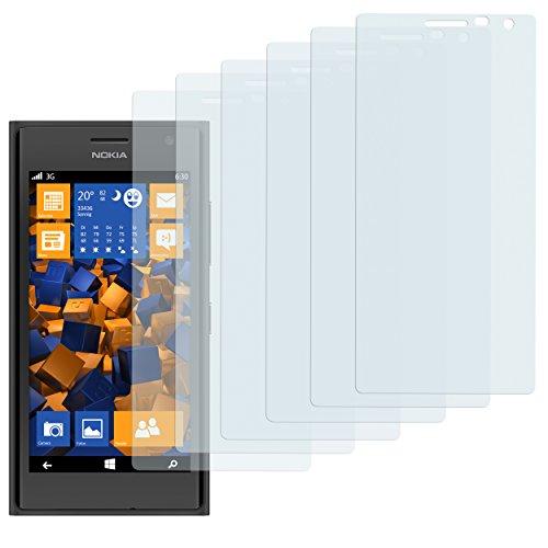 mumbi Schutzfolie kompatibel mit Nokia Lumia 730 / 735 Folie klar, Bildschirmschutzfolie (6x)
