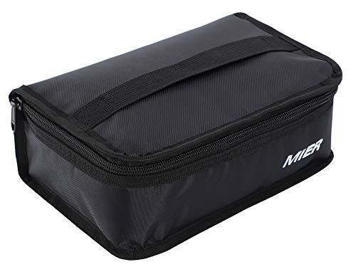 Mier lunch box bag food storage raffreddamento borse termiche kit da viaggio per le donne e gli uomini, set di 1 (1pc nero)