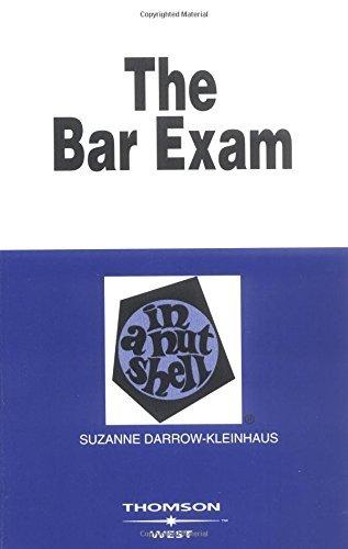 The Bar Exam in a Nutshell (Nutshell Series) by Suzanne Darrow-Kleinhaus (2003-11-01)