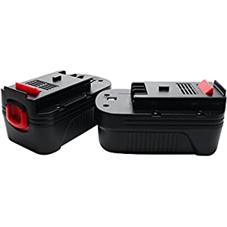 2-Pack Replacement - Black & Decker HPB18-OPE Battery Replacement - For Black & Decker 18V HPB18 Power Tool Battery (1500mAh, NICD)