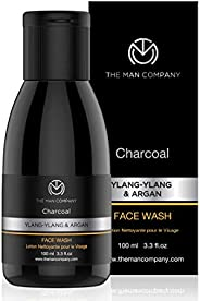 The Man Company Activated Charcoal Face Wash (Ylang Ylang & Argan Essential Oils) To Flight Pollution &