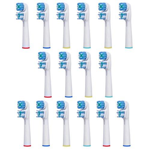 16 uds (4x4) de cabezales para cepillos de dientes E-Cron®. Oral B Dual Clean (EB417-4) recambios. Totalmente compatibles con los siguientes modelos de cepillos de dientes eléctricos Oral-B: Vitality Precision Clean, Vitality Floss Action, Vitality Sensitive, Vitality Pro White, Vitality Dual Clean, Vitality White and Clean, Professional Care, Triumph, Advance Power, TriZone y Smart Series.