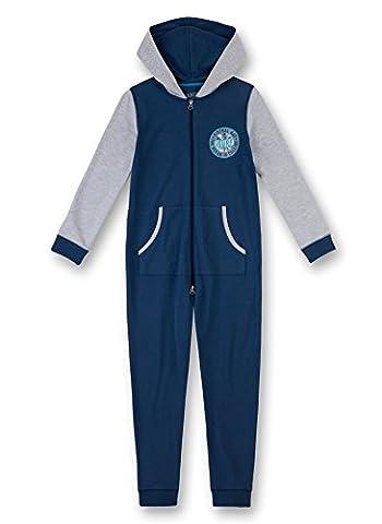 Sanetta Jungen Einteiliger Schlafanzug 243897 Blau (Denim 5936), 140