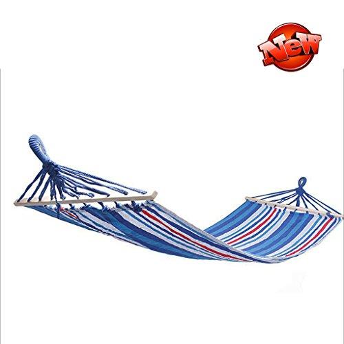 Hamac simple extérieur multifonctionnel de jeu de hamac d'enfant de balançoire (Color : Blue and white, Size : 190 * 90cm)