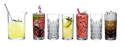 Pasabahce 441201Juego de vasos Miranda, Juego de 7piezas para casa, jardín, Fiesta y hoteles en cristal de diseño
