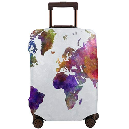 Travel Suitcase Protector,Recording Studio with Music Devices Turntable Records Speakers Digital Illustration,Suitcase Cover Washable Luggage Cover S