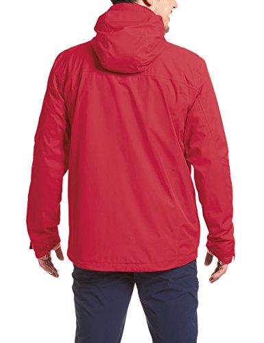 MAIER SPORTS Funktionsjacke Metor M aus 100% PES in 22 Größen, Packaway-Jacke/ Outdoor-Jacke/ Herren Jacke, wasserdicht und atmungsaktiv salsa