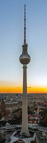 1art1 82429 Berlin – Der Fernsehturm Bei Sonnenaufgang Poster Kunstdruck 91 x 30 cm
