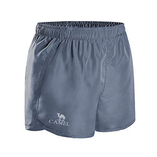 CAMEL Gym Shorts Women Running Shorts Comfortable Athletic Shorts, High Waisted Jogging Shorts for Yoga, Workout, Exercise,Training