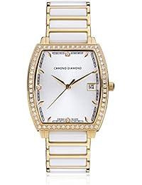 Chrono Diamond 82061_weiß-32 mm - Reloj para mujeres, correa de metal color blanco