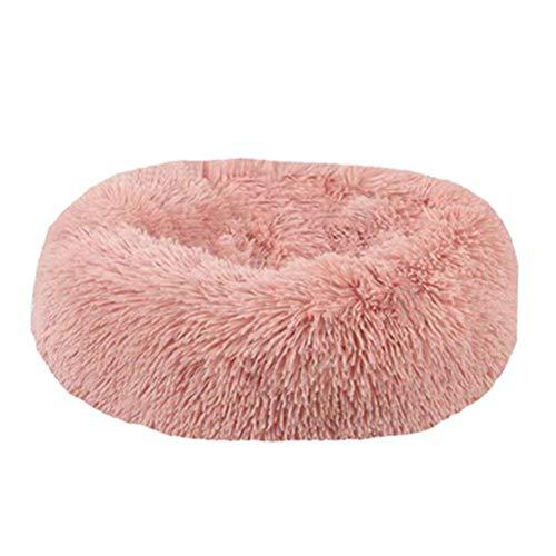 Weesey Haustierbett Hundebett Katzenbett Rundes Plüsch Hundesofa Katzensofa Kissen in Doughnut-Form für Haustiere (Katzen und kleine Hunde)