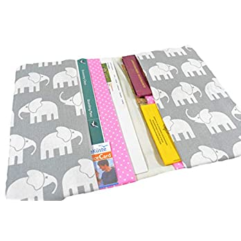Reiseetui Reisepasshülle Reiseorganizer Elefant