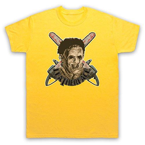 Inspiriert durch Texas Chainsaw Massacre Leatherface Unofficial Herren T-Shirt Gelb