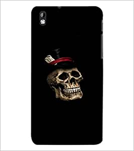 PrintDhaba Skull D-2371 Back Case Cover for HTC DESIRE 816 (Multi-Coloured)