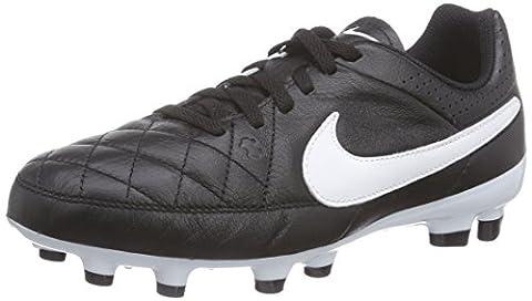 Nike Tiempo Genio Leather FG, Herren Fußballschuhe, Schwarz (Black/White), 38 EU