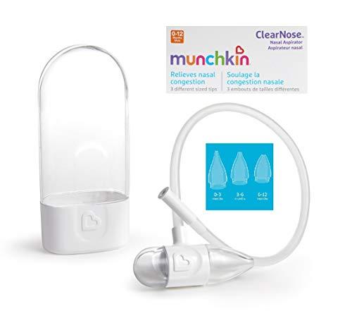 Munchkin CosieNosie Baby-Nasensauger mit Aufbewahrungsbehälter und 3 verschiedenen Aufsätzen