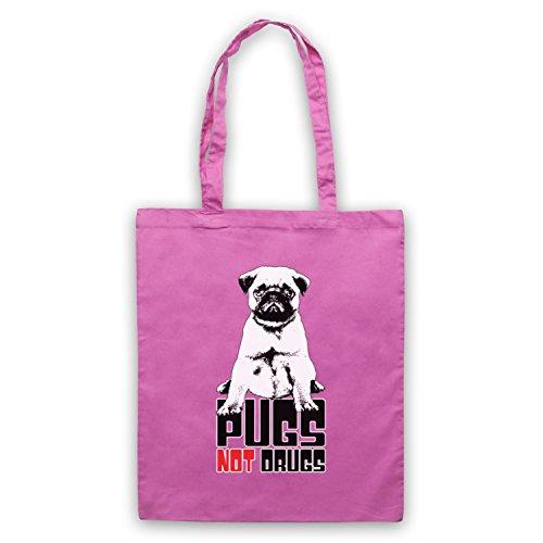 Pugs Not Drugs Slogan Umhangetaschen Rosa