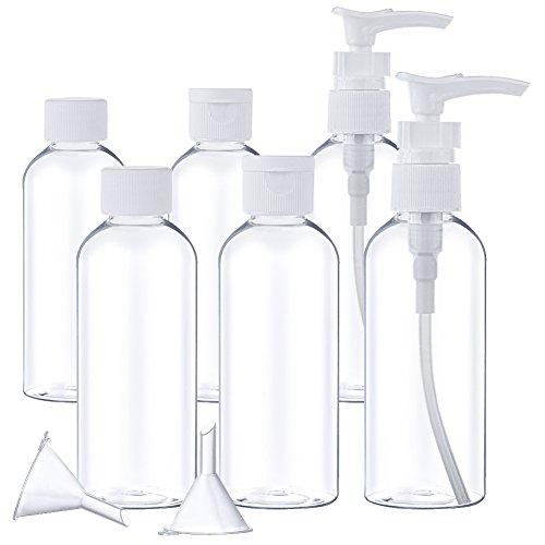 AUSTOR 8 Piezas Botella de Viaje 100ml de Artículos de Tocador para Viajes Aéreos