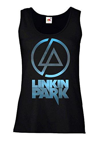 "Canotta Donna ""Linkin Park - Sky Texture"" - 100% cotone LaMAGLIERIA, M, Nero"