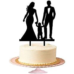 Figurilla pastel sombra de pareja con niño