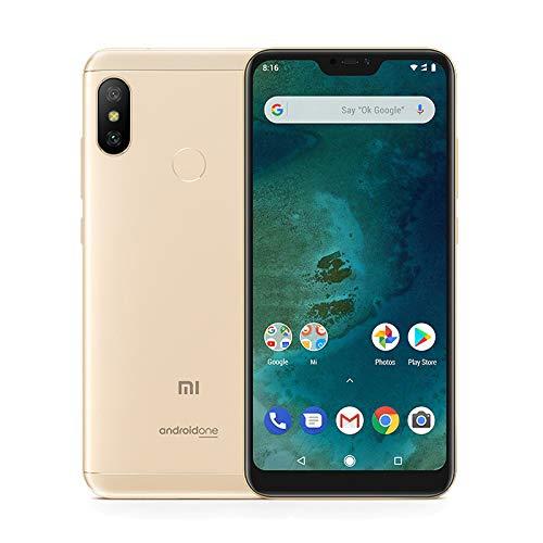 """Xiaomi meu A2 Lite 5.84 smartphones"""" Pantalla Full HD 4 GB RAM + 64 GB ROM Snapdragon 625 Octa Core Dual SIM MicroSD de 5 megapíxels frontal + 12MP 5MP Dual Cámara Trasera Móviles Teléfono (daurat)"""