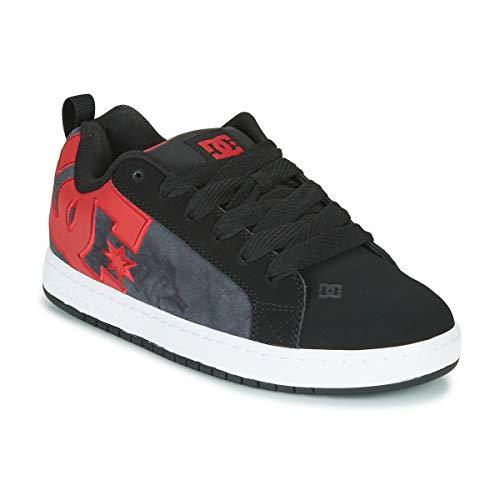 DC Shoes Herren Court Graffik Se-Low-top Shoes for Men Skateboardschuhe, Black red, 43 EU - Mens Court Graffik Skate Schuhe