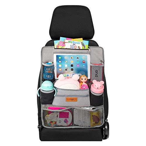 Auto Organizer Kinder, Auto Organizer Rücksitz Kinder, SURDOCA [9 Pockets] Autositz Organizer Kinder,[9.7 & 7.9 iPad]Rücksitzorganizer Kinder , Anti-Scratch Back Seat Organizer, Baby Sitz Organizer.