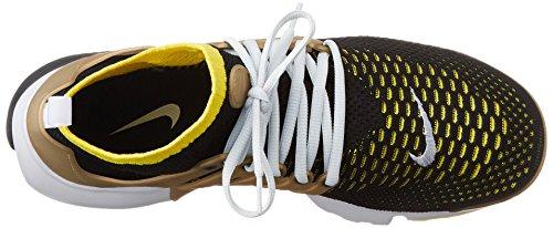 Nike Air Presto Flyknit Ultra, Scarpe sportive Uomo Nero (Blk / Yllw Strk-Mtllc Gld-Ntrl G)
