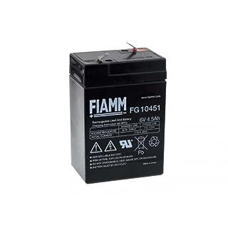 FIAMM Bleiakku FG10451 6V 4,5Ah Faston 4,8 AGM Akku Blei-Gel Vliestechnik