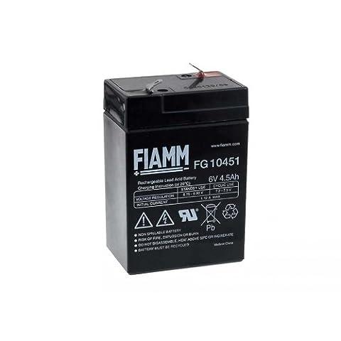 Batterie de remplacement pour FIAMM moto, voiture, quad et autre véhicule pour enfant 6V 4 5Ah