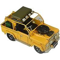 VJUKUBWINE Hojalata Land Rover Militar Modelo De Vehículo Hecho A Mano Antiguo Arte Retro De Hierro Casa Decoración De Decoración De Coches Decorativos Apoyos De Fotografía 30 * 14 * 17Cm