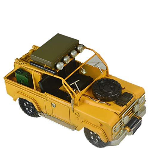 Vjukubwine latta land rover veicolo militare modello fatto a mano antico retrò ferro arte casa auto decorazione decorazione disposizione fotografia puntelli 30 * 14 * 17cm