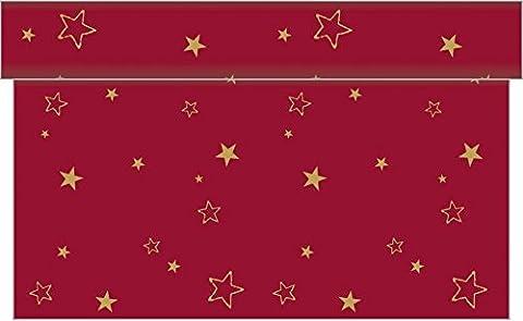 Sovie HORECA Tischläufer LIAM / Linclass® Airlaid Tischläufer 40cm x 24m / Tischdecken-Rolle stoffähnlich / Einmal-Tischdecke für Weihnachten / (Papier Tischdecken Weihnachten)